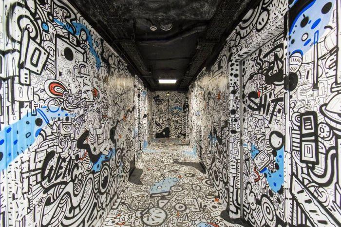 Graffiti, arte urbano… no sé cómo definirlo, pero esto es otronivel