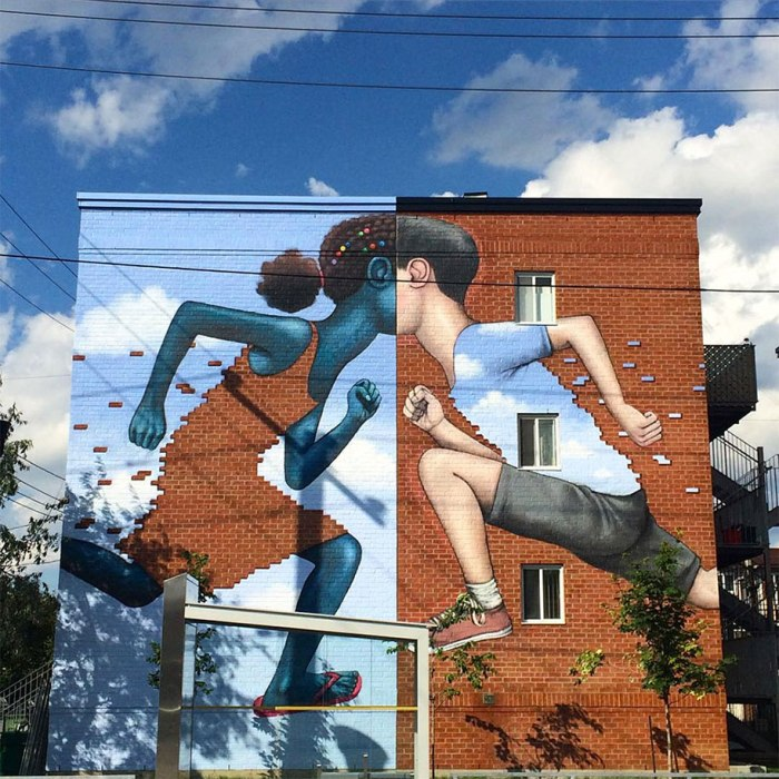 Pintar un mundo más bonito en una pared cualquiera…