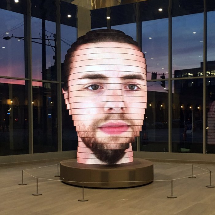 'As We Are', una escultura interactiva que proyecta tu cara a logrande…