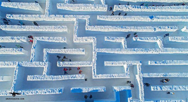 Snowlandia… sí, es lo que parece. Bueno, si pensabas en un laberinto denieve…