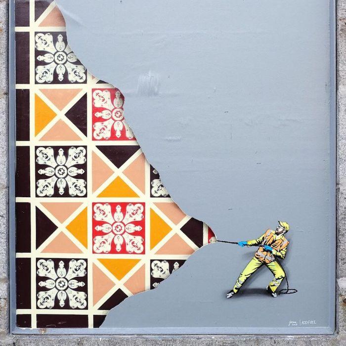 Arte urbano (y obrero) enBruselas…