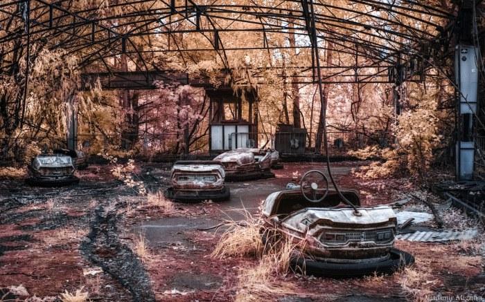 Aplica un filtro infrarrojo y verás Chernobyl como nuncaantes…