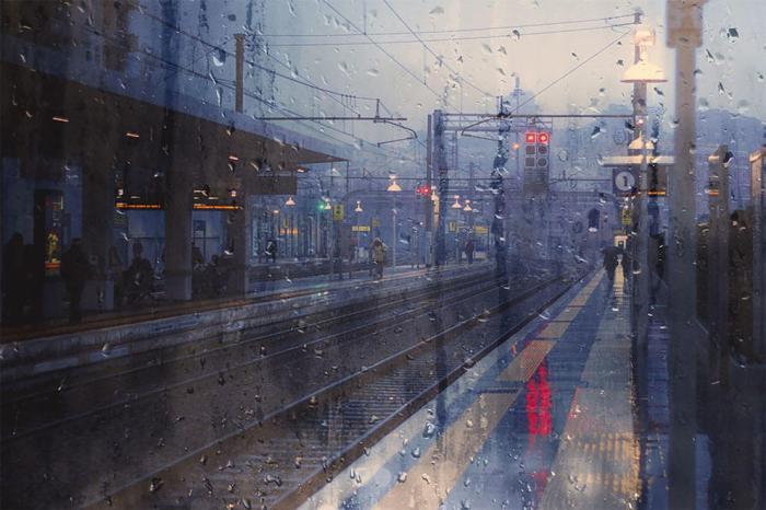 El mundo a través de una gota delluvia…