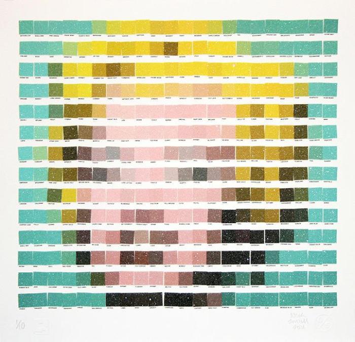 Nick Smith, y su visión Pantone de las obras de arte másicónicas…