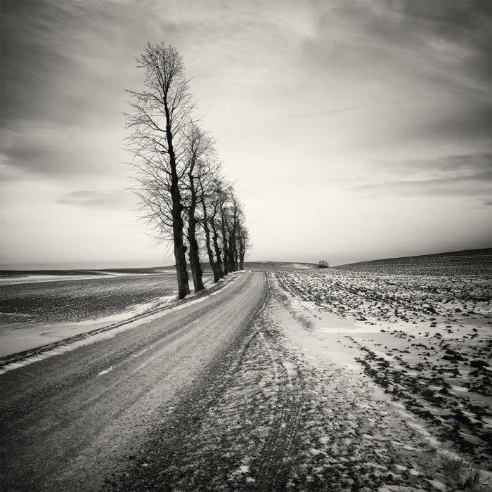 Fotografía. Blanco. Negro. Caminos infinitos. Ya tardas en escaparte…