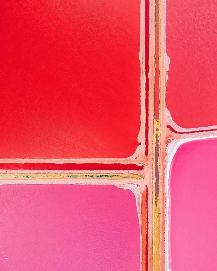 El lago rosa de Australia como nunca lo habías visto (si es que alguna vez lo habíasvisto)…