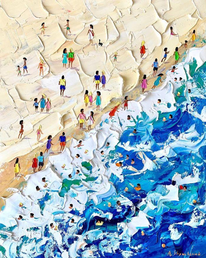¿Añoras la playa? Deja que el arte teayude…